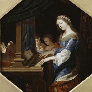 파이프오르간을 연주하는 성녀 세실