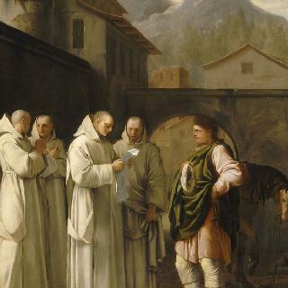 성 브루노의 삶 : 교황의 메시지를 받는 성 브루노