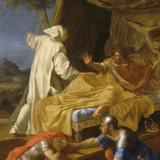 성 브루노의 삶 : 로제르 백작에게 나타난 성 브루노