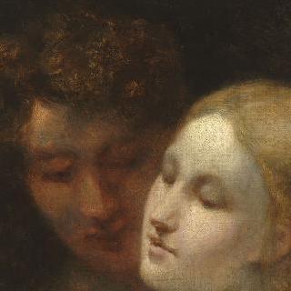 젊은 남녀의 얼굴