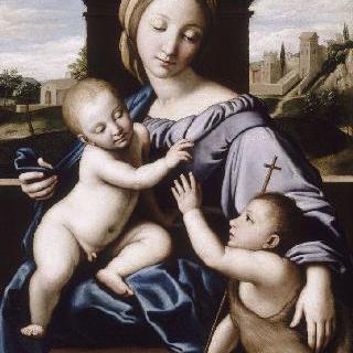 성 요한과 아기 예수를 안고 있는 성모