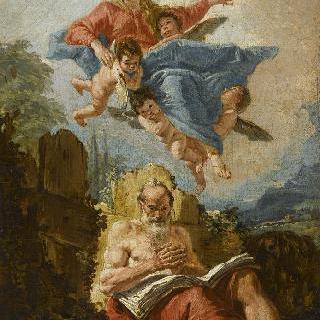성 제롬에게 나타난 성모