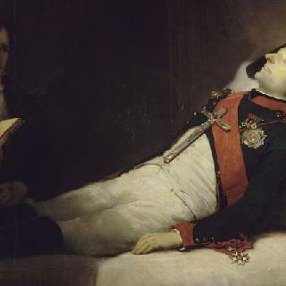 매장 한 시간 전의 임종의 나폴레옹 1세