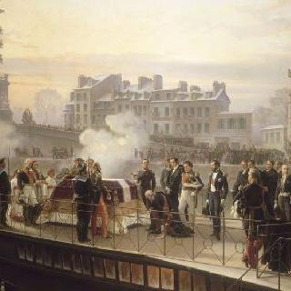 1840년 12월 14일 나폴레옹 1세 유해의 쿠르브부아에서 도라드 도착