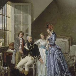 1794년 룩셈부르그 감옥의 남편 알렉산드르를 방문한 조제핀