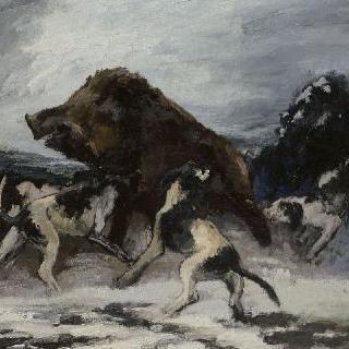 노르망디 지방의 멧돼지 사냥