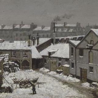 눈이 내린 파리의 포부르그