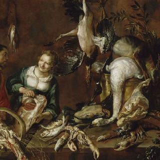 가금류와 생선 장수