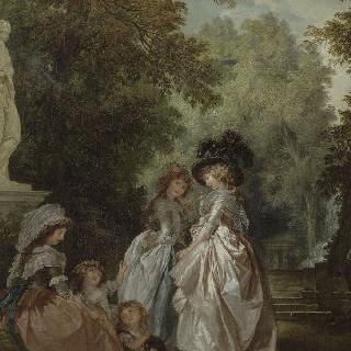공원의 여인들과 아이들