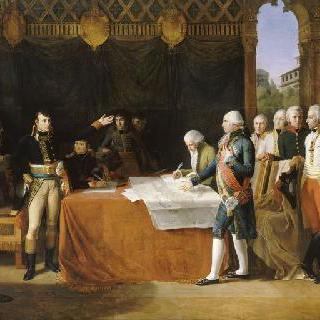 레오벤 부근 에크와르 성에서의 평화조약의 사전 절충 체결