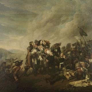 1675년 7월 17일 잘츠바흐 전투에서 포탄에 맞은 투렌의 죽음