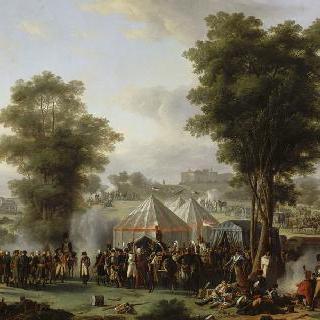 1809년 5월 4일 에베르스베르그 성 부근의 나폴레옹 1세의 야영지