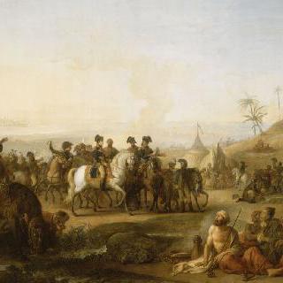 1798년 12월 28일 무아즈의 샘을 방문한 보나파르트 장군