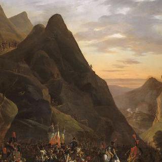 1800년 5월 21일 알바레도 협로를 통과하는 예비역들