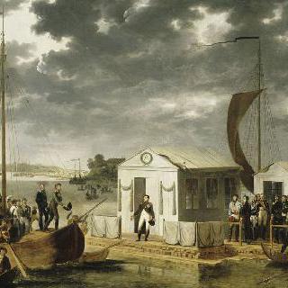 1807년 6월 25일 니망에서의 나폴레옹 1세와 러시아 알렉산더 1세 황제의 대담