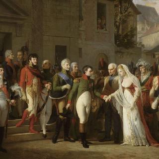 1807년 틸시트에서 프러시아의 여왕을 맞이하는 나폴레옹 1세