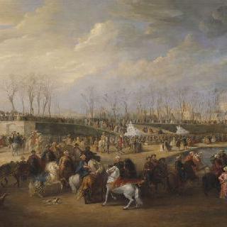 1721년 3월 21일 튈르니 정원에 도착한 무함마드 에펜디 터키 특사