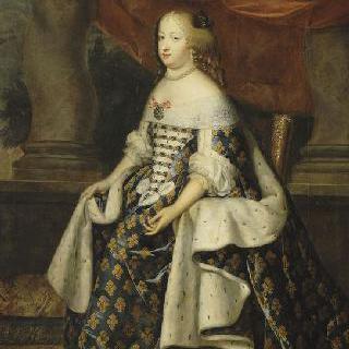 스페인 공주, 왕실복을 입은 마리 테레즈 왕비의 전신 초상 (1638-1683)