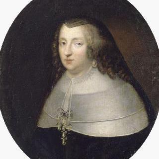 미망인의 복장을 한 안 도트리슈 왕비의 초상 (1601-1666), 섭정