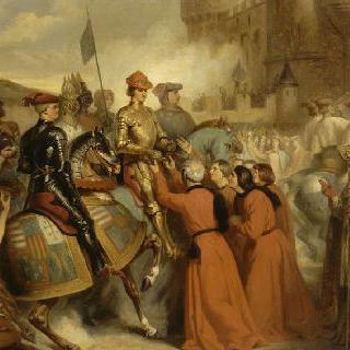 1449년 11월 10일 샤를 7세의 루앙 입성