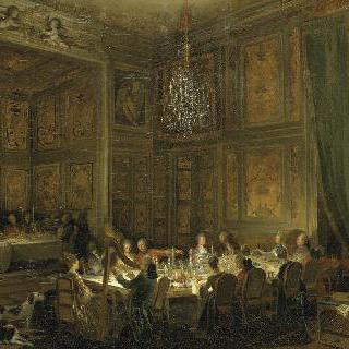 신전 궁전의 루이 프랑수아 드 콩티 왕자의 야식