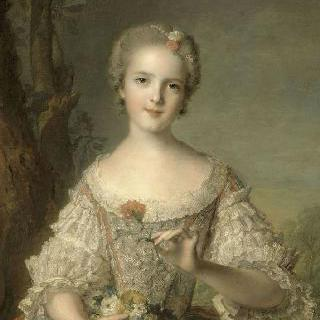 꽃바구니를 들고 있는 루이즈 드 프랑스 (1737-1787)