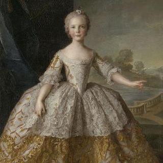 8살 때의 아자벨 드 부르봉 (1741-1763), 파름의 공주