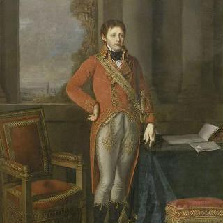 1803년 앙베르 도시 전경 앞 제 1 집정관 나폴레옹 보나파르트
