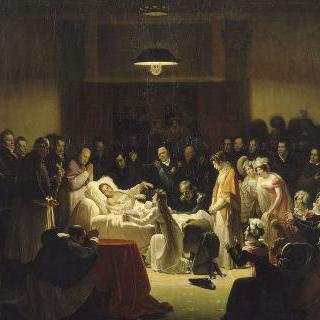 파리 오페라 극장의 휴게실에서 베리 공작의 임종의 순간