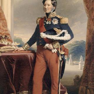 프랑스의 왕, 루이 필립 왕의 전신상
