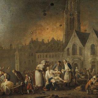 1792년 오스트리아 군대의 릴 점령 : 생 소뵈르 거리의 폭격
