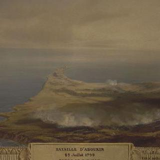 상세 패널 : 1799년 7월 25일 아부키르 전투의 전경