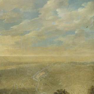 요새 제철공이 작성한 그라블린 지역의 공사 조감도 (1658년 8월 30일)