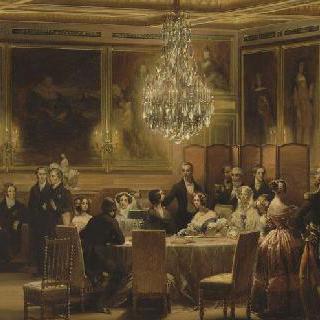 1843년 9월 3일 에위성에서 빅토리아 여왕과 알버트 왕자의 환영 리셉션