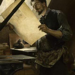 펠리시앙 롭 (1833-1898), 판화가