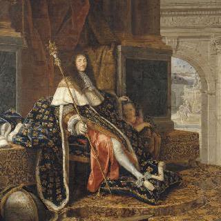 회화와 조각의 왕실 아카데미의 수호자인 루이 14세
