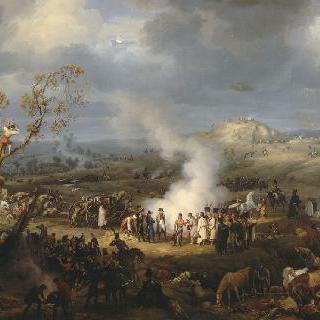 아우스터리츠 전투 전날 군대 야영지를 방문한 나폴레옹 1세