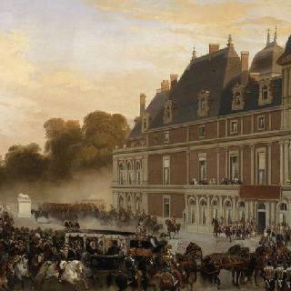 1843년 9월 2일 빅토리아 여왕과 알버트 왕자의 에위 성 도착