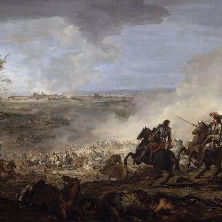 1673년 6월 29일 마이에스트리히의 점령을 이끄는 루이 14세