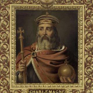 주변 장식 속의 샤를마뉴 서로마 제국의 황제 (742-814)