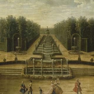 18세기 초 베르사유 정원 테아트르 도의 작은 숲