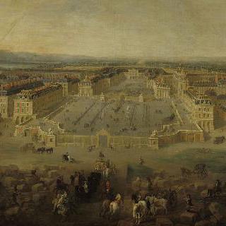 1722년 아름 광장에서 본 베르사유 성의 전경