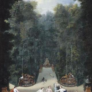 1688년 베르사유 정원 내 미로 숲 내부 전경