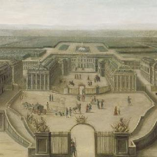 아르므 광장에서 바라본 베르사유 궁전