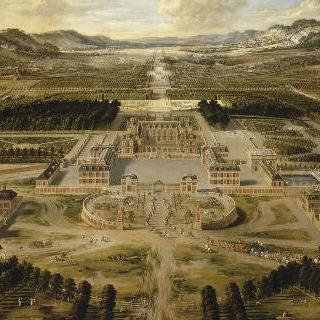 1668년 베르사유 성의 전경