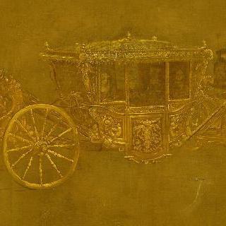 마리 테레즈 왕비의 사륜 마차 (습작)