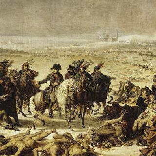1807년 2월 9일 에위라우 전투 다음 날 전투지를 방문한 나폴레옹 1세