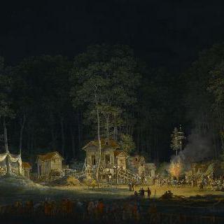 1785년 공원에서 밤의 축제