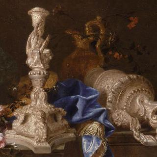 헤라클레스의 고역의 촛대가 있는 정물
