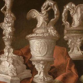 루이 14세의 금은세공품들이 있는 정물